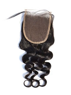 Brazilian Remy Hair Lace Closure Loose Wave Human Hair 4X4 Swiss Lace With Baby Hair Shipping Free