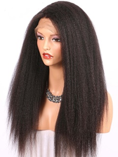 Kason Peruvian Italian Yaki Full Lace Wig Classical Kinky Straight Human Hair Full Lace Wig For Black Women