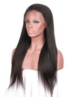 Peruvian Virgin Hair Yaki Human Hair Wig Kason Unprocessed Human Hair Full Lace Wigs With Baby Hair Straight Can Ponytail