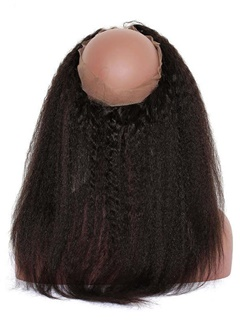 Kinky Straight Hair | Frontal Lace Closure | Bleached Knots Lace Wigs