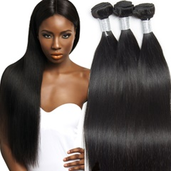 Peruvian Virgin Hair Straight 100% Human Hair Weave Bundles Unprocessed Hair Weft Free Shipping