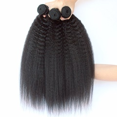 Peruvian Virgin Hair 3 Bundles Kinky Straight Hair 100% Human Unprocessed Peruvian Hair Weave Silky And Soft
