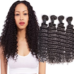Brazilian Deep Wave Virgin Hair 4Pcs/Lot Machine Double Weft 100% Human Hair Weaving Nature Color 8-30inch Free Shipping