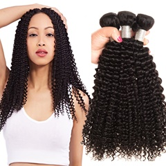 Brazilian Kinky Curly Virgin Hair 3Pcs/Lot 100% Human Hair Weave Bundles Natural Color Hair Weaving Free Shipping