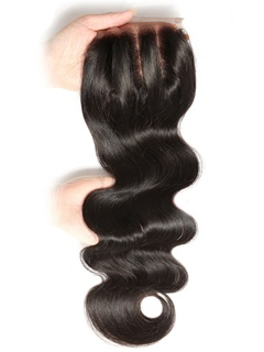 Indian Body Wave Closure Indian Virgin Hair Lace Closure Swiss Lace 4×4 Human Hair Lace Closure With Baby Hair