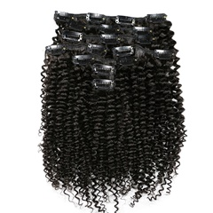 Mogolian Kinky Curly Clip In Human Hair Extensions African American Curly 100% Remy Human Hair Clip in Natural Color