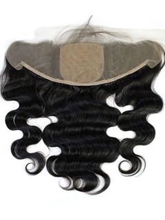Body Wave Brazilian Virgin Hair Silk Base Frontal Natural Color Swiss Lace Hidden Knots 13x4 Closure Free Shipping