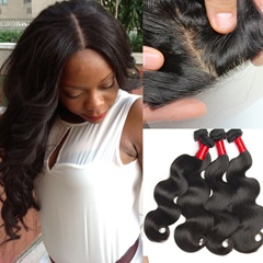 Indian Human Hair Free Shipping Best Quality 4Bundles With Silk Base Closure Unprocessed Weave Closures Hot Sale