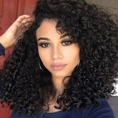 Loose Curly Lace Closure With Bundles Top Grade Unprocessed Peruvian Virgin Hair 3Bundles With Swiss Lace Closure Bleached Knots Free Shipping