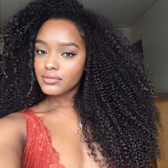 Kinky Curly Human Hair Weave Bundles Deals 4Pcs Brazilian Virgin Hair Can Be Dyed Top Grade Brazilian Tight Kinky Curly Human Hair Extensions Free Shipping