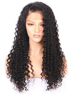Brazilian Virgin Hair Deep Wave Full Lace Wig 100% Unprocessed Virgin Human Hair Wigs For Black Women