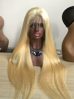 Full Lace Wig Best Quality #613 Blonde Color Brazilian Virgin Hair Human Hair Full Lace Wig With Baby Hair