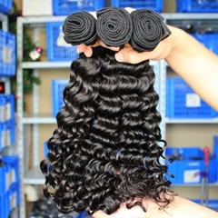 Beauty Peruvian Virgin Hair Deep Curly Hair No Any Chemical Processed Virgin Remy Hair 3 Bundles Human Hair Weave Hot Selling