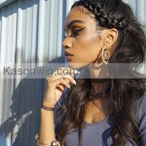 360 Lace Frontal Closure Body Wave Peruvian Remy Hair 130% Density 360 Frontal Closure Natural Black Color