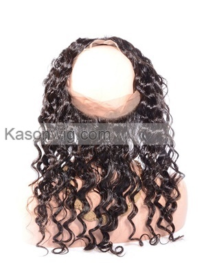 New Style Brazilian Loose Wave 360 Lace Band Frontals Lace Closure With Customized Hairline Baby Hair 360 Lace Frontals Free Shipping