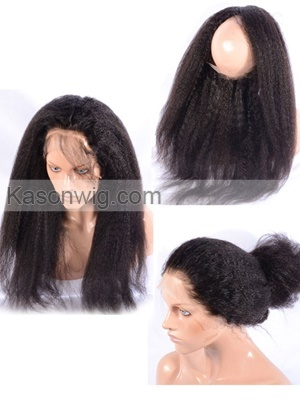 Pre Plucked Frontal Kinky Straight Brazilian Virgin Hair 360 Lace Frontal With Baby Hair Free Shipping For 360 Lace Band Frontal