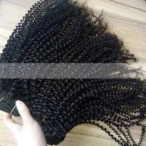 Hot Sale Best Quality Tight Kinky Curly Hair Top Grade Peruvian Virgin Hair Kinky Curly Natural Color 3Bundles Human Hair Weaves Free Shipping