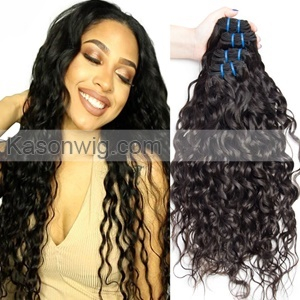 Hot Selling Virgin Peruvian Hair Water Wave 3 Bundles Human Hair Weave Can Be Dyed 100% Unprocessed Peruvian Hair