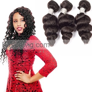 Malaysian Loose Wave Remy Hair Extensions 3Pcs 100% Human Hair Weave Bundles Kason Hair Products Natural Black