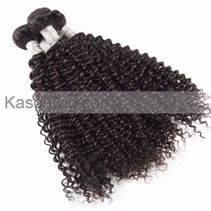 3 Bundles Malaysian Kinky Curly Hair Extensions Machine Double Weft 100% Remy Human Hair Weave Natural Color