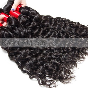 3Pcs/Lot Indian Water Wave Unprocessed Wet And Wavy Raw Indian Virgin Hair Remy Human Hair Weave Natural Black
