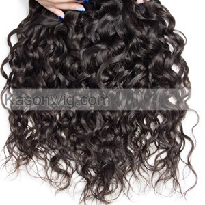 Indian Virgin Hair Natural Wave 4Bundles Indian Water Wave Human Hair Weaves Wet And Wavy Unprocessed Remy Hair