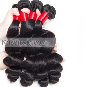 Indian Loose Wave 4 Bundles Human Hair Weave 100% Unprocessed Raw Indian Virgin Hair Material Can Be Dyed