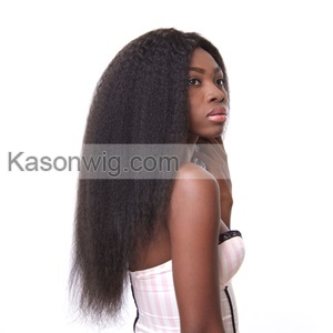 Mongolian Kinky Straight Hair With Closure Lace Closure With 3 Bundles Coarse Italian Yaki Virgin Hair 4 Pcs Human Hair Weave