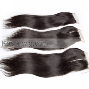 Peruvian Straight Hair 3 Bundles With Lace Closure Unprocessed Human Peruvian Straight Hair With 4×4 Swiss Closure