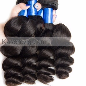 Classical Peruvian Loose Wave Hair Kason Unprocessed Peruvian Virgin Hair 4Bundles With 1Piece Lace Closure Free Shipping