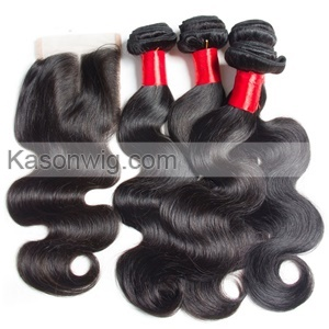 Indian Body Wave Virgin Hair With Closure Lace Closure With Human Hair Weave 4 Bundles Indian Virgin Hair With Closue