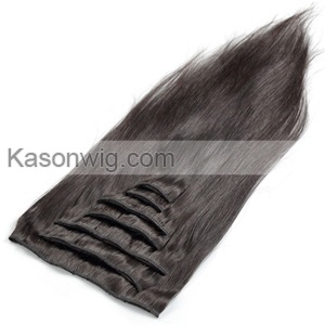 Brazilian Remy Hair Clip In Human Hair Extensions Straight Natural Color Natural Hair For Black Women