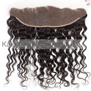 Indian 3 Bundles With Frontal Closure Water Wave Bundles With Frontal Raw Indian Human Hair Wet And Wavy Can Be Colord