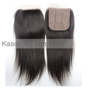Malaysian Virgin Hair With Silk Base Closure Straight Hair With Silk Closure Virgin Hair 4 Bundles And Closure Free Middle 3 Part Closure