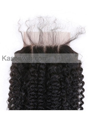 5X5 Lace Clsoure Kason Hair Products 8A Mongolian Virgin Hair Mongolian Kinky Curly Lace Closure Virgin Hair Closure