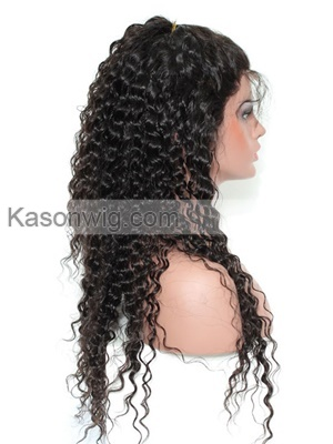 360 Frontal Human Hair Lace Front Wigs Black Women Peruvian Deep Curly Hair 360 Lace Frontal Wig Natural Hairline With Baby Hair