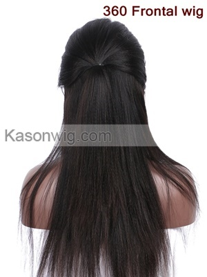 Peruvian 360 Lace Frontal Wig Yaki Straight Hair Glueless Lace Front Human Hair Wigs Peruvian Virgin Hair Human Hair Wigs For Black Women