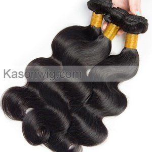 4Bundles With Silk Base Closure Best Quality Peruvian Virgin Hair Human Hair Bundles With Closure Body Wave Hair Natural Color Can Be Colord