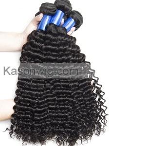 4Bundles Peruvian Deep Wave Hair With Silk Base Closure 100% Unprocessed Peruvian Virgin Hair With Closure Silk Top Closure Natural Color