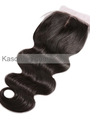 Peruvian Virgin Hair Silk Base Closure 4×4 Free Middle 3 Part Unprocessed Human Peruvian Body Wave Silk Top Lace Closure Bleached Knots