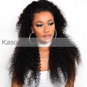 Lace Frontal Closure 13X4 With 3Bundles Peruvian Human Hair Kinky Curly Great Quality Kinky Curls Weave Bundles Frontal Free Shipping