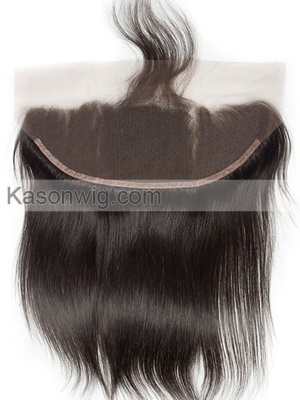 Peruvian Straight Virgin Hair Lace Frontal Closure 13x6 Human Remy Hair Lace Closure Natural Hairline Swiss Lace Frontal With Baby Hair Free Shipping