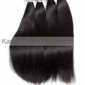 Raw Indian Hair Silk Base Closure With Bundles Natural Color Silk Straight Hair 3Bundles With Lace Closure 4*4 Indian Remy Hair Free Shipping