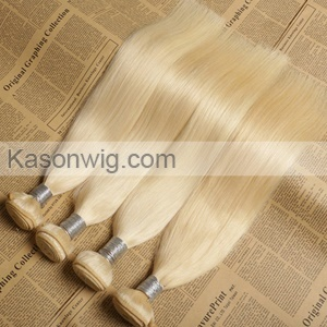 Russian Girl Honey Blonde Virgin Hair Top Grade 100% Unprocessed Straight Human Virgin Hair 3Pcs/lot Silk Soft Can Be Colord Free Shipping