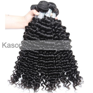 3Bundle Peruvian Deep Wave Hair With Closure Peruvian Virgin Hair Hair With Closure Deep Curly Human Hair Extensions