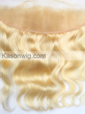 Honey Blonde Color Lace Frontal Closure Ear To Ear Lace Frontal Peruvian Human Hair Body Wave Lace Frontals With Baby Hair 613 Color