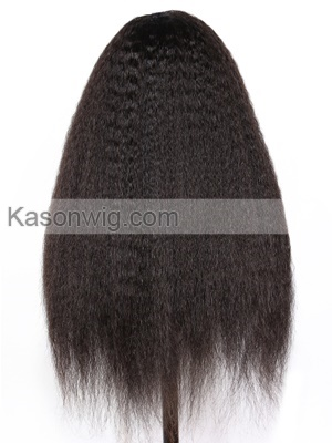 Italian Yaki African American Full Lace Human Hair Wigs Best Glueless Brazilian Virgin Kinky Straight Lace Wigs