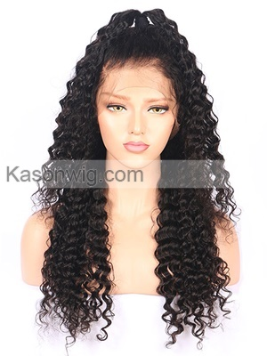 8A Brazilian Deep Wave Human Hair Wigs For Black Women Lace Wig With Pre-plucked Baby Hair Lace Front Human Hair Wigs