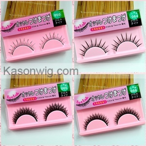 Wholesale Private Label False Lashes Silk Material Synthetic Eyelashes