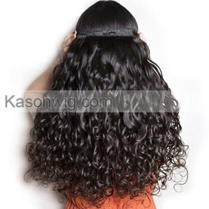 Malaysian Virgin Hair Lace Frontal With 3 Bundles Human Hair 100% Unprocessed Human Virgin Malaysian Water Wave Hair
